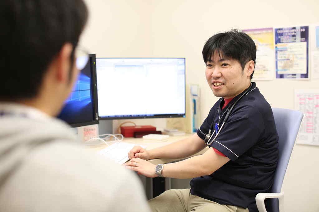 腎臓内科診療風景の写真